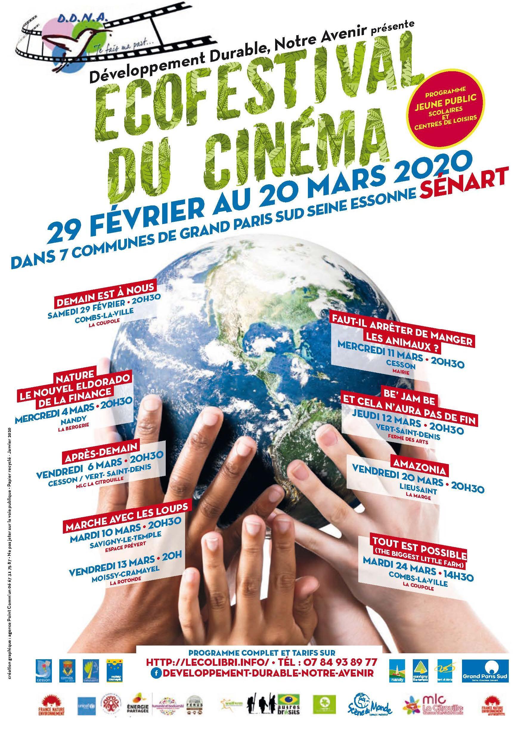 Ecofestival du cinéma – Fev- Mars 2020