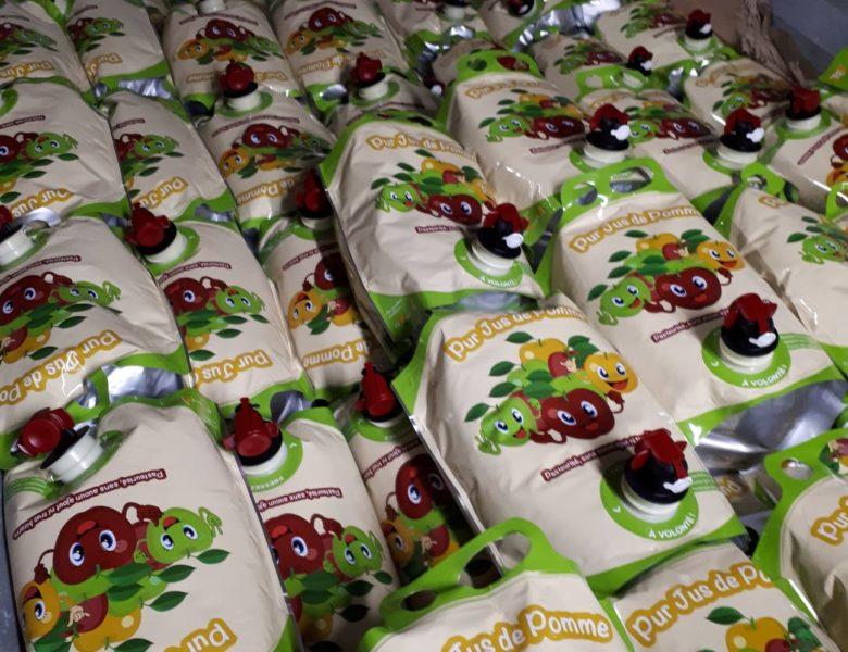 Vente de jus et de fruits des Vergers Vivants de Lieusaint