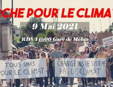 Marche pour le climat dimanche 9 mai 2021 à Melun